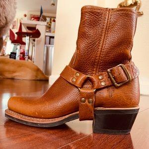 Frye Harness Leather Boots 6 Women